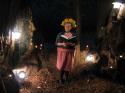 Oh yes I did dress as a pottled daisy for Daryn & David's redwood forest wedding. Daryn & David, Big Basin, California