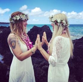 Alli and Ash, La Perouse Bay, Maui Hawaii