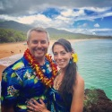 Joe and Andrea, Makena Beach, Maui