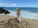 Gorgeous beach wedding at Lap Perouse Bay.