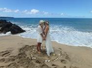 Gorgeous beach wedding at Lap Perouse Bay.