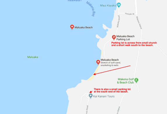 Maluaka Beach Map
