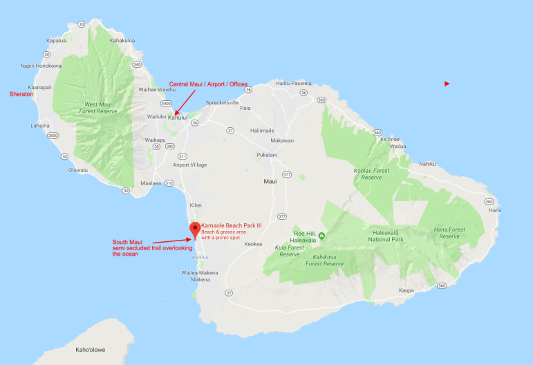 Location on Maui