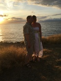 Sunset vow renewal for N and K