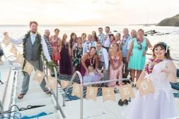 A very happy wedding crew!