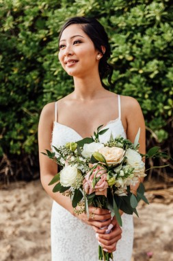 Elegant and glowing bride